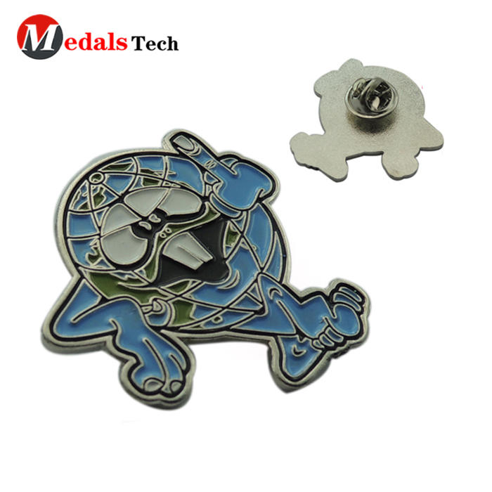 OEM customized soft enamel metal elves lapel pins with butterfly clutch