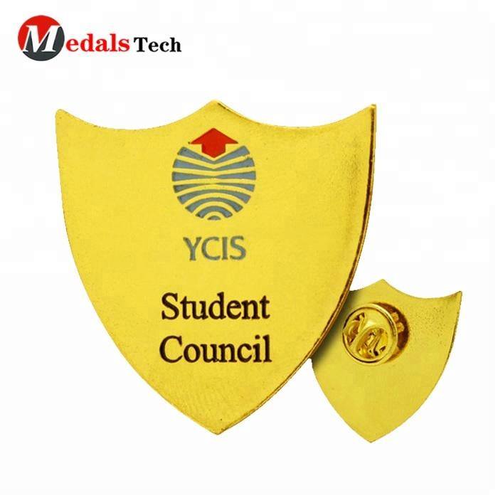 Best selling customized metal school student council pin badges