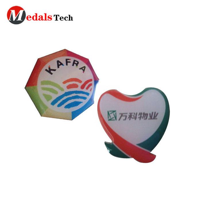China manufacturer low cost printing epoxy coating custom logo lapel pin