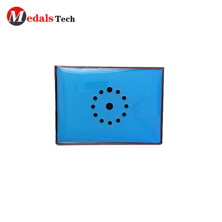 Customized national country metal flag epoxy sticker souvenirbadge