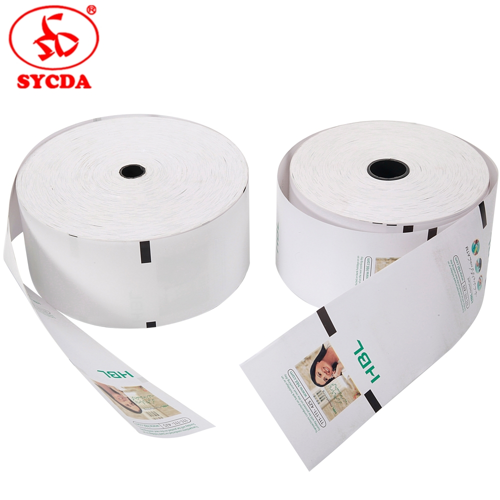 High Quality pos paper roll printing thermal receipt paper rolls to roll cutting machine