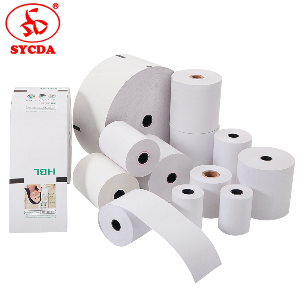 hot sale paper 3 1/8 office paper ATM thermal paper roll for cash register machines for POS /ATM / credit card receipt