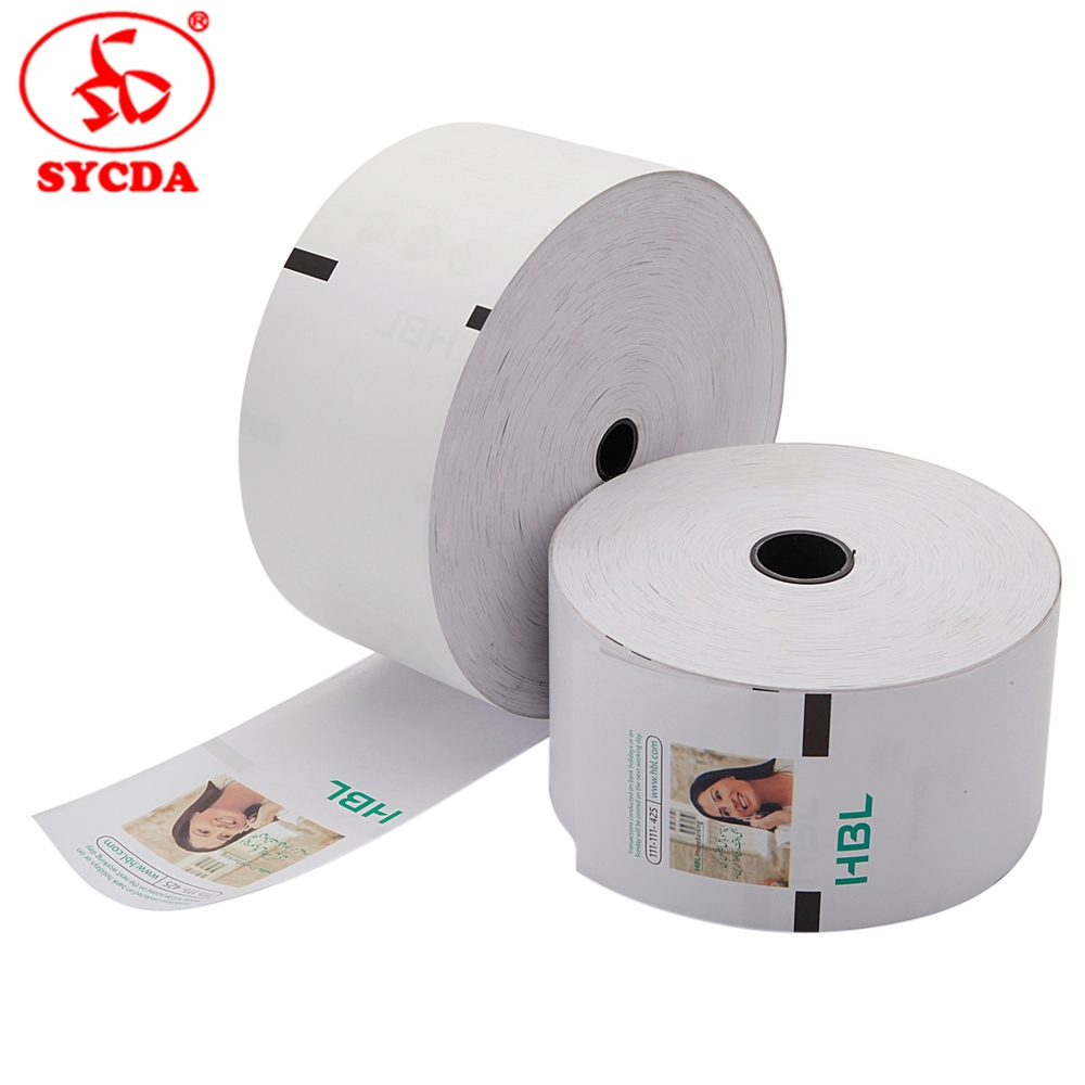 Top Coated Bank ATM Printing Thermal Paper Roll for POS Machine