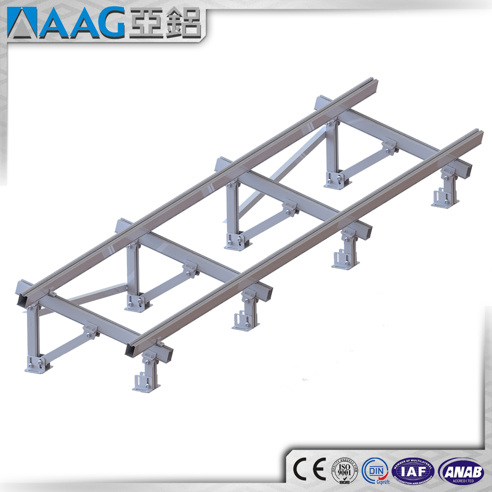 Solar Flat Roof Mounting System Structure,Ballasted Solar Mounting Flat Roof Mount for Solar Panel Energy