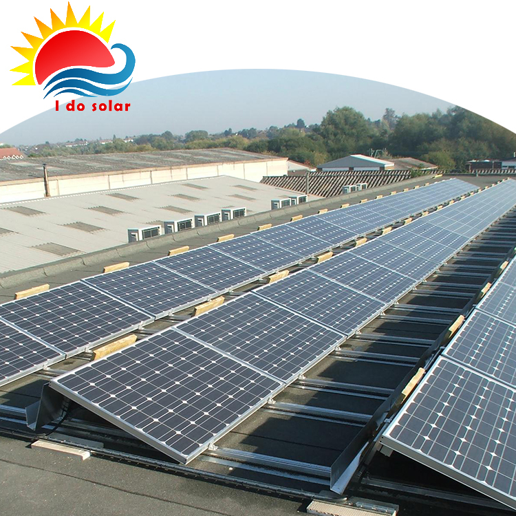 Eco Friendly Grid Tied Industrial Ballasted Solar Mount