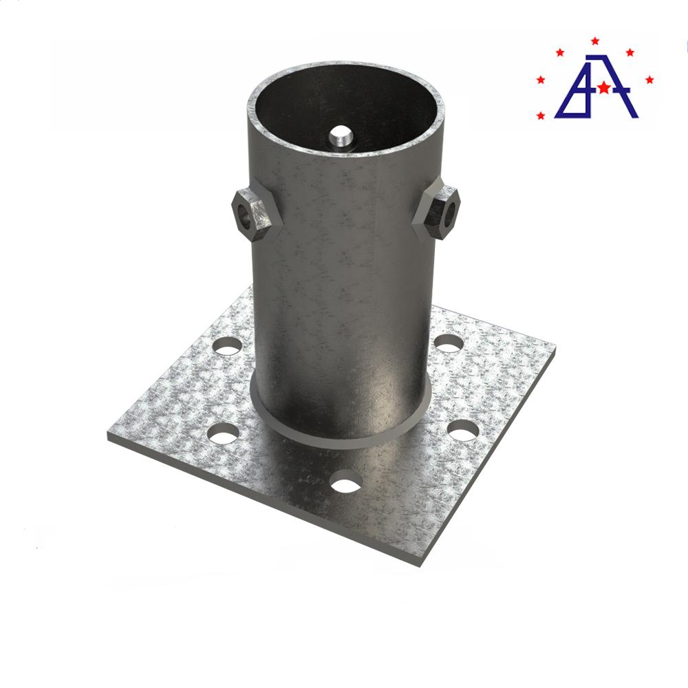 Aluminum Alloy Bottom Screw For Ground Solar Panel System