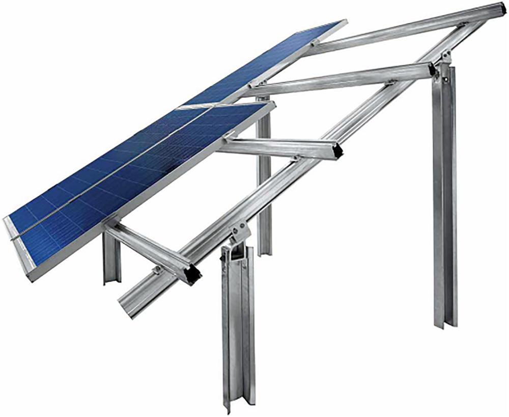 Solar panel ground mounting structure, aluminum solar panel