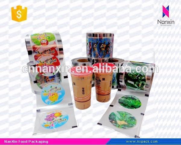 custom printing juice cup sealing packaging film for PP cup