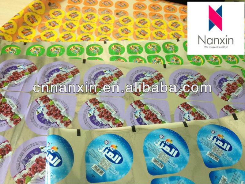PET/EVA easy peel plastic roll film for jelly cup