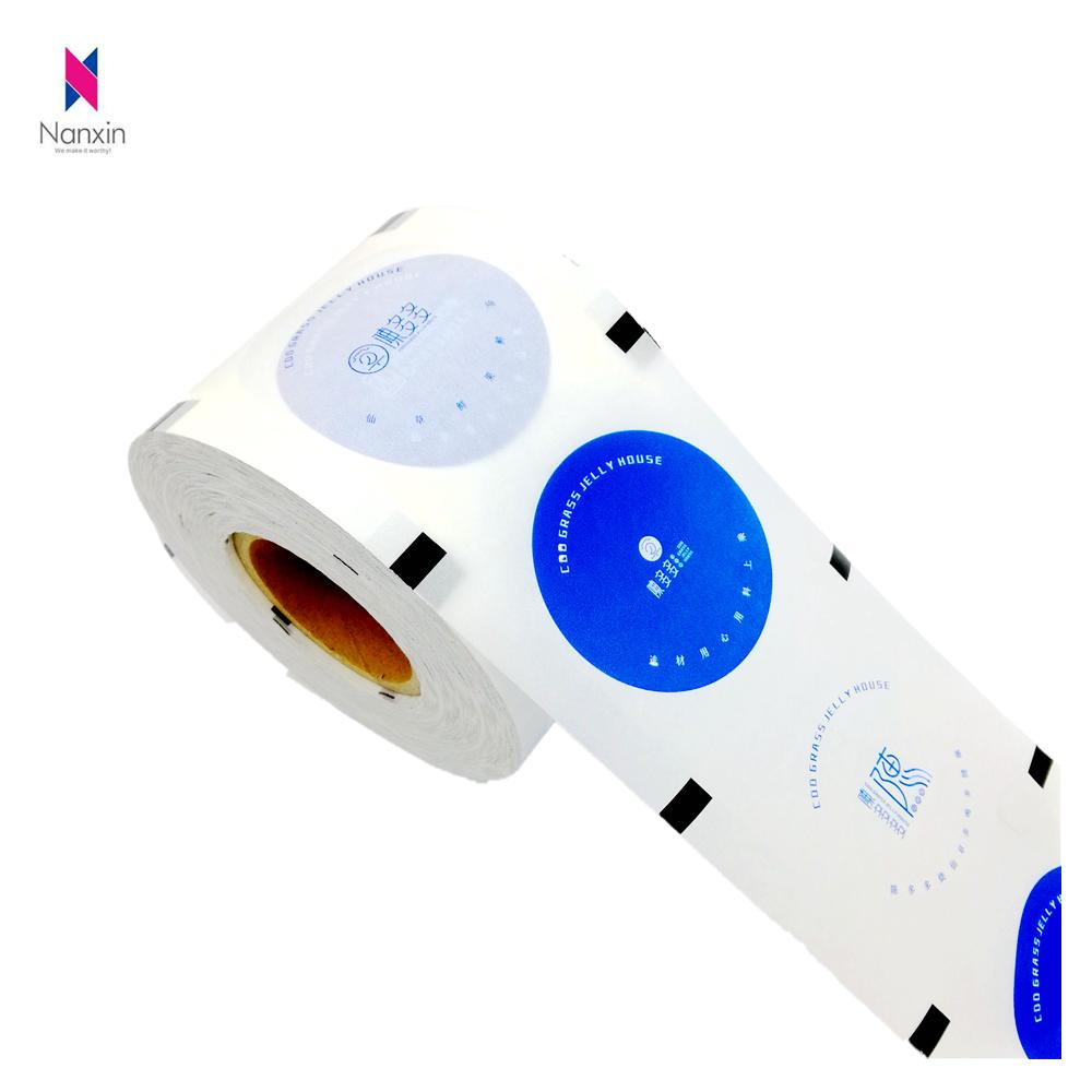 customized print heat seal bubble tea cup sealing roll film