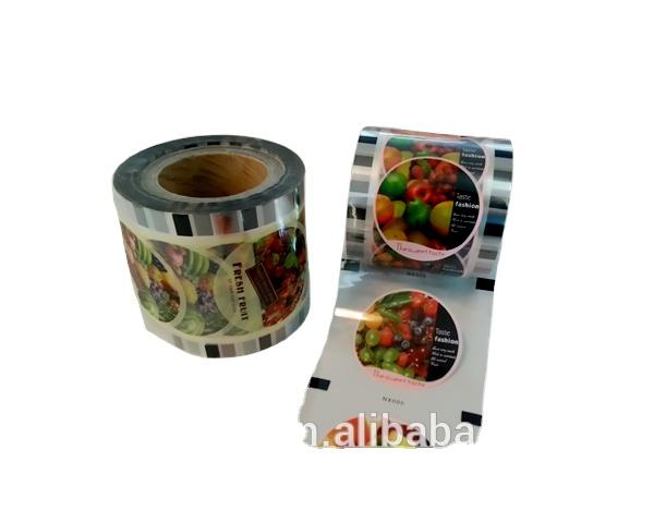 laminated cup sealing roll film for plastic jelly cup lid