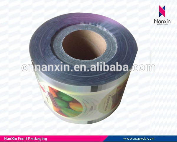customized plastic roll film bubble tea cup sealing film