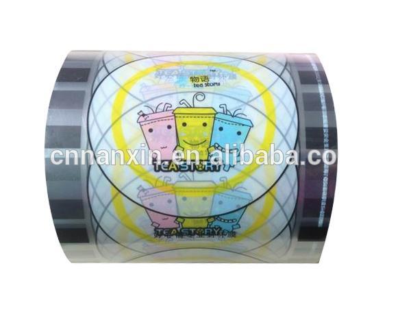 customized plastic roll film bubble tea cup sealing film