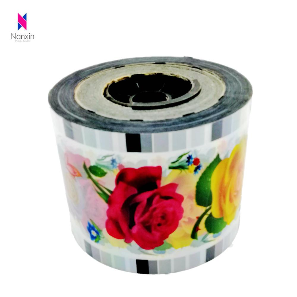 custom logo paper cup sealer film for boba tea cup sealed