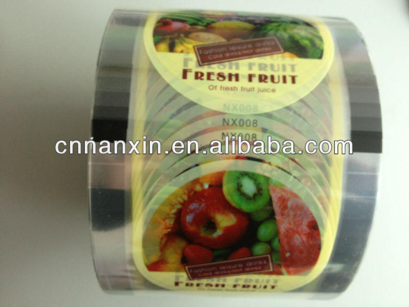 plastic roll film for PP or PE cup sealing lid