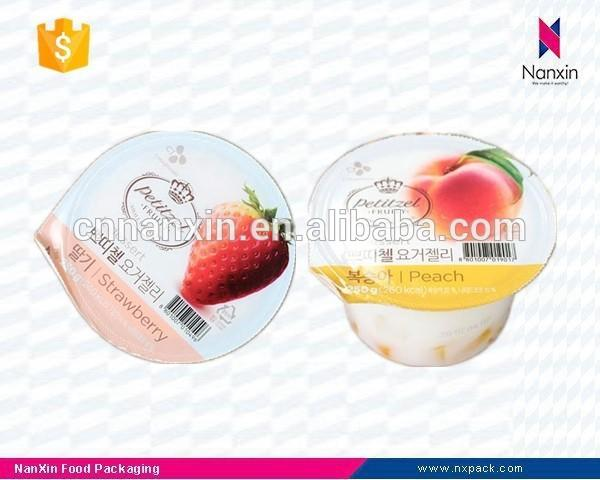 fruit jelly packaging peelable lidding cup sealing film