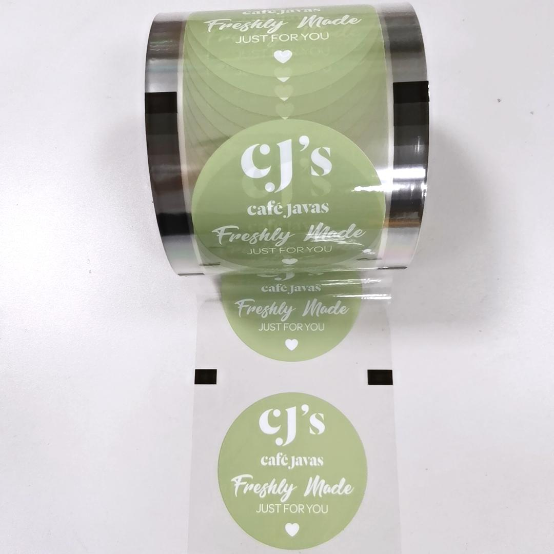 Auto machine Laminated sealing film FoodPPmilk tea cupsplasticbubble Cup sealing film