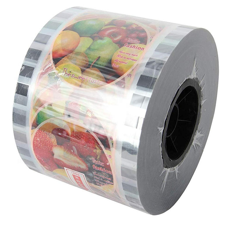 custom printed laminated plastic cup sealer film for bubble tea and drinking