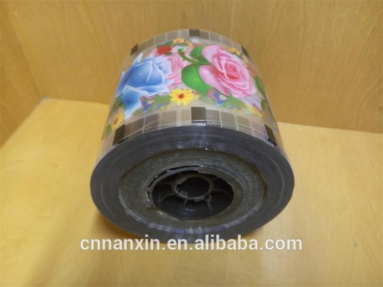 plastic PET/CPP cup sealing film for bubble tea cup