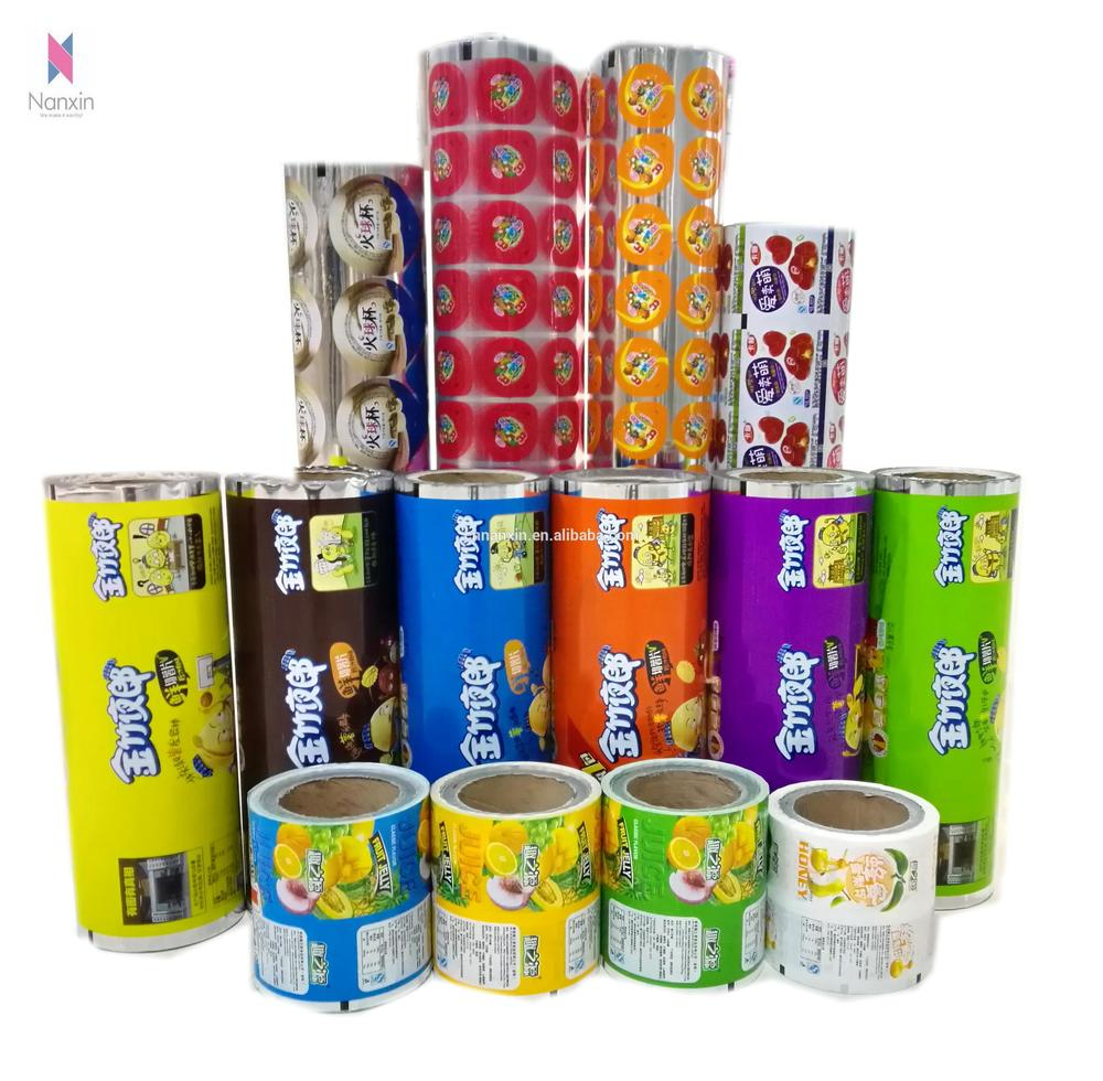 plastic cup sealer film for bubble tea cup with cartoon design