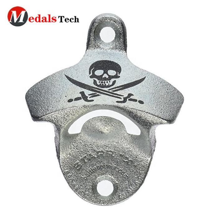 Custom cheap bulk wholesale metal beer wall bottle opener with screws