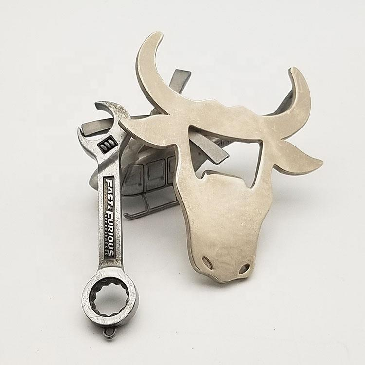 Hot sell silver brushed promotional cheap beer bottle opener with printed your logo