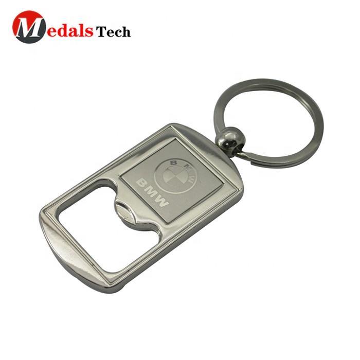 Custom shape mens blank metal bottle opener keychain with custom logo