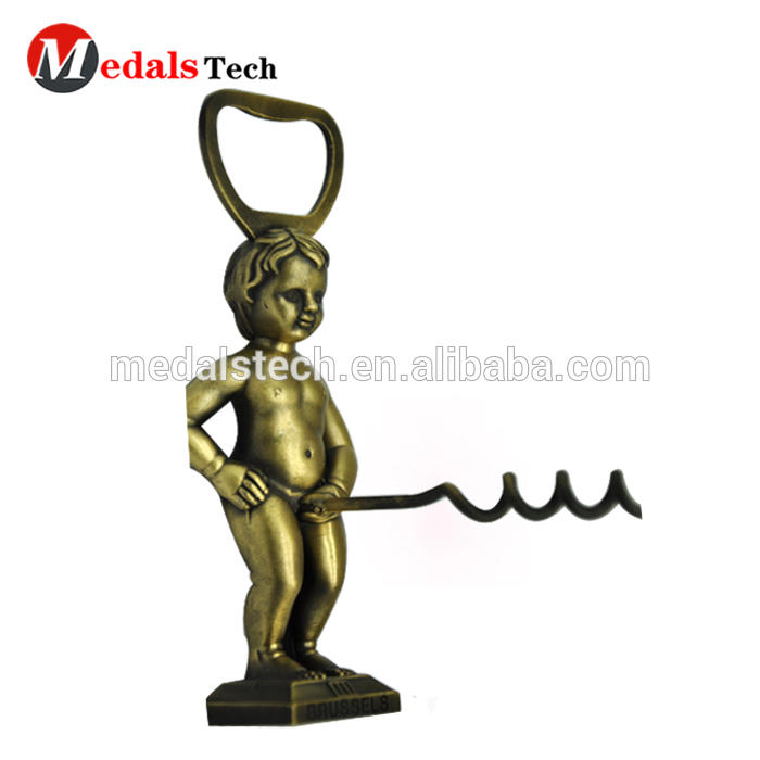 Custom metal innovative 3D penis beer wine stopper bottle opener