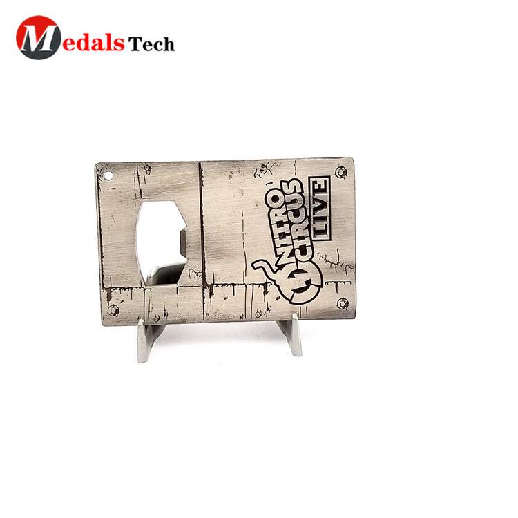 Customized logo printing business gift metal card bottle opener