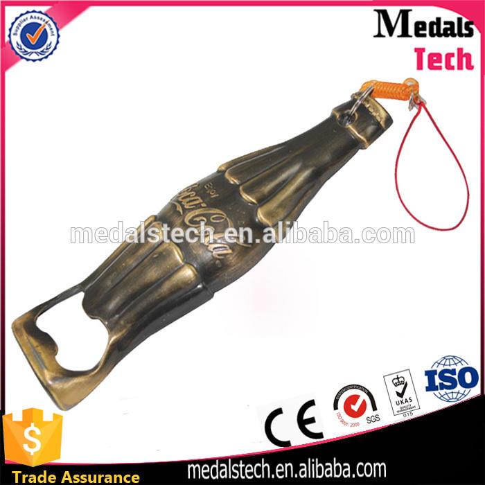 Black spray custom metal die cast iron flat bottle opener with silk printed logo