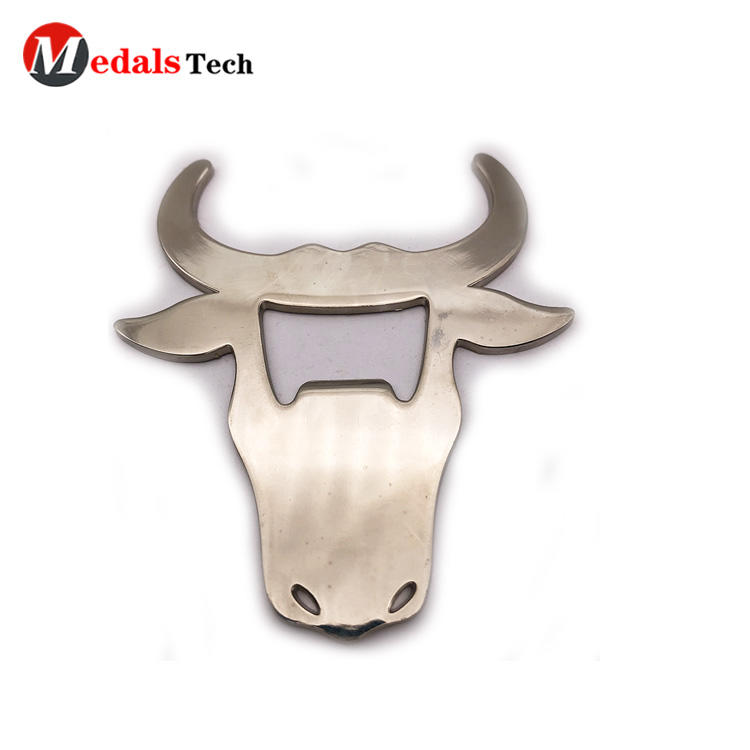 2019 customized blank cow shaped stainless steel metal bottle opener