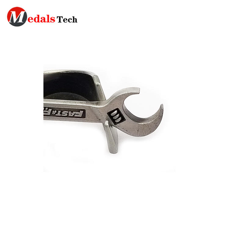 Personalized blank spanner shape mini tool wrench metal beer bottle opener