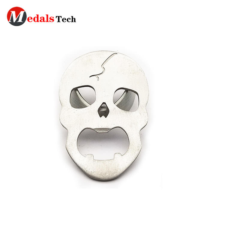 Creative promotional cut out design skulls shape aluminum bottle opener