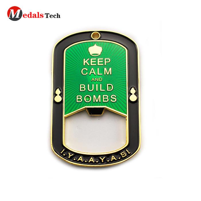 Best selling gold plating flat pocketbeer bottle opener