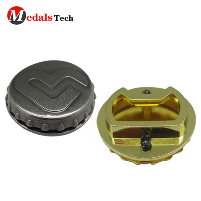 New attractive style round shape antique nickle cap beer bottle opener