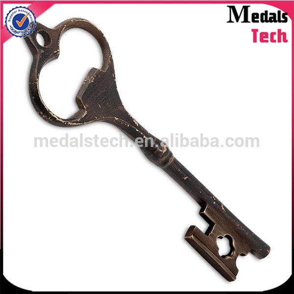 Fashion celebration souvenir master key shape keychain beer bottle opener