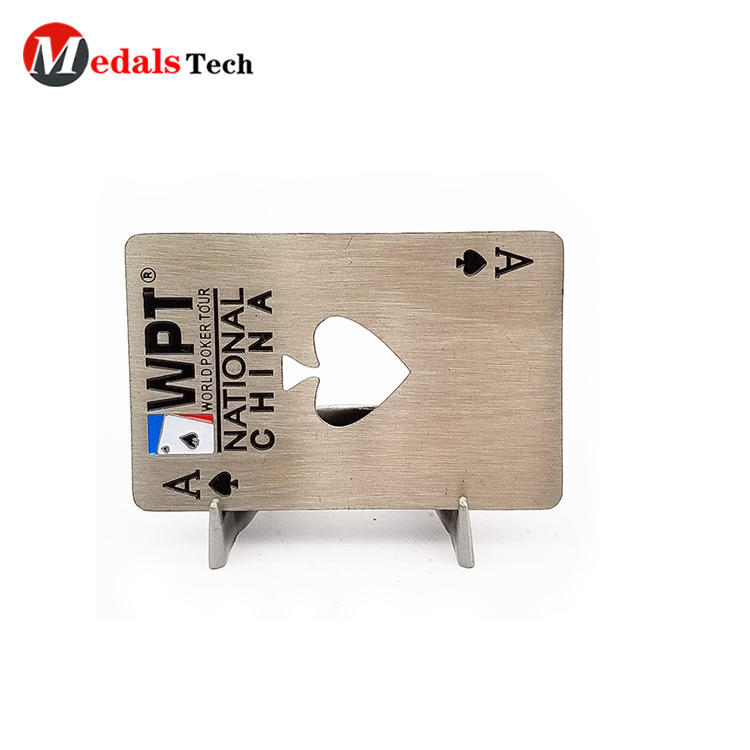 Cheap engraved logo square metal beer Peach heart credit card bottle opener