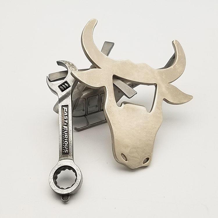 Bottle Opener Metal Fashion Hasband Gifts CustomCow Shape Beer Oem Steel Stainless Logo