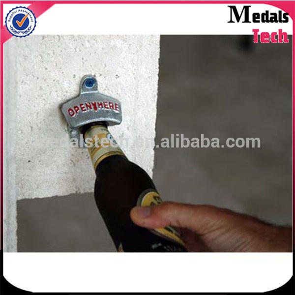 die casting Custom polishing screws fixed Wholesale Beer Wall Mount Bottle Opener