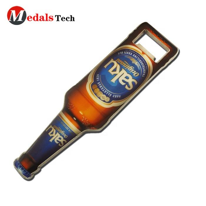 Promotion printing company logo souvenir gift custom beer wine advertisement bottle opener