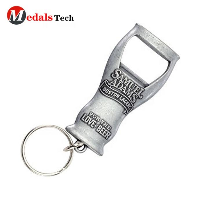Factory OEM wholesale bulk blank zinc alloy metal keyring bottle opener as beer company promotional gifts