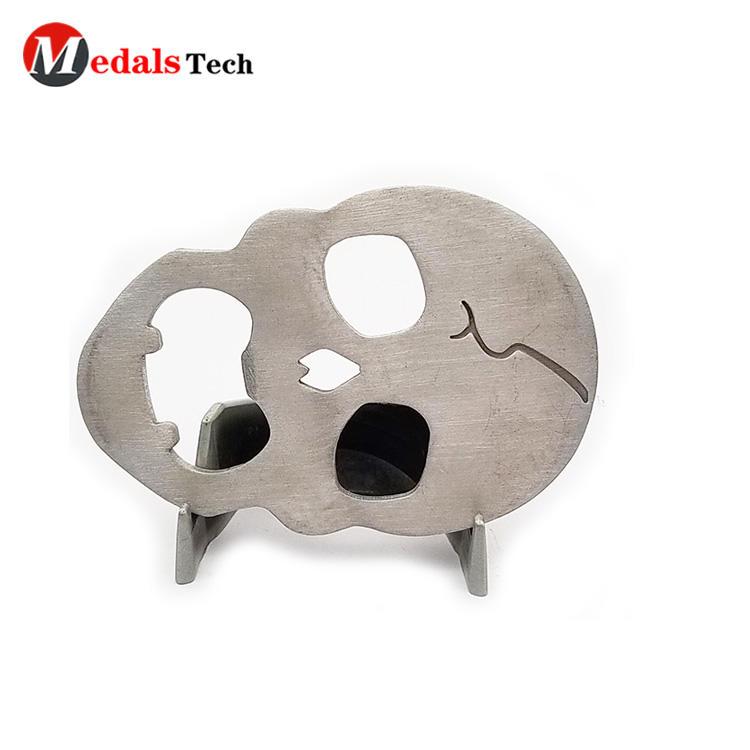 Creative promotional cut out design skulls shape aluminum bottle opener