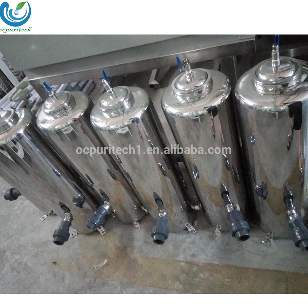 water treatment stainless steel bag filter housing
