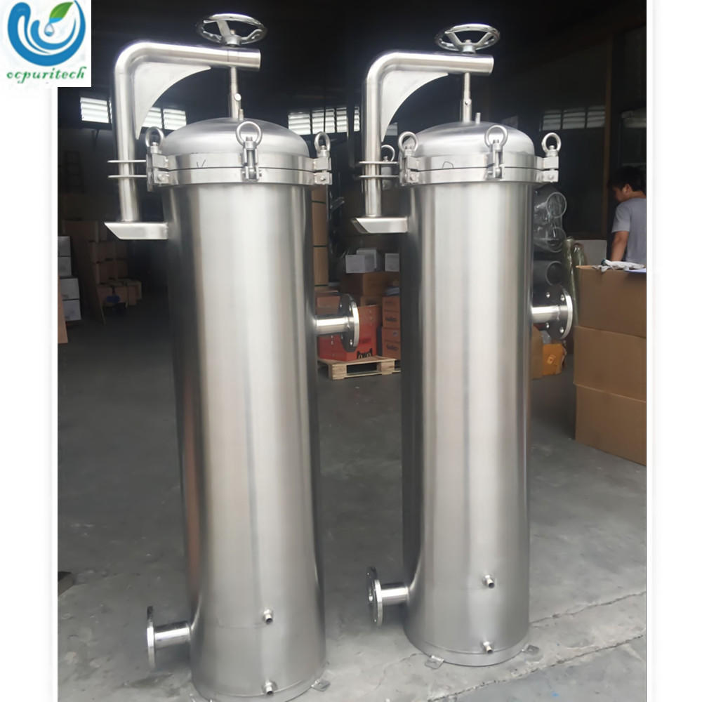410mm - 810mm single bag Stainless steel water bag filter housing