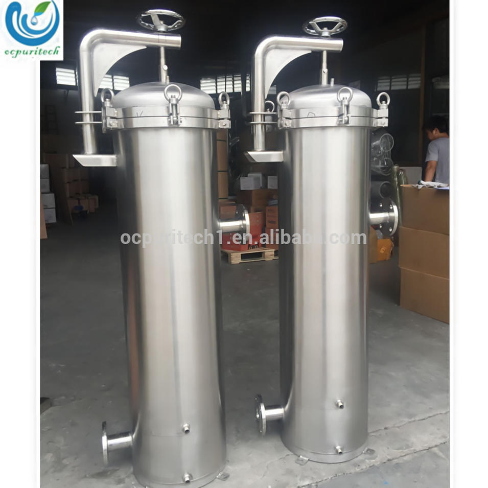 stainless steel water filter housing fit to 410mm 810mm bag filter bag