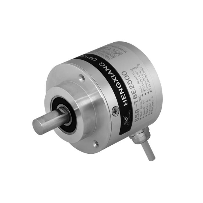 RV6040 RV-3600-I24/L2 Incremental encoder with 10mm dia asolid shaft 3600 pulse HTL circuit 10-30VDC S58 equivalent