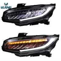 VLAND factory LED car headlights for Civic 2016-2018 full-LED headlight plug and play for new Civic FC