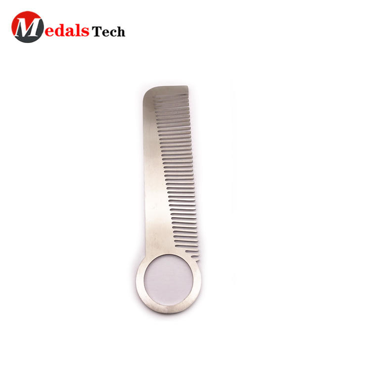 Cheap custom metal blank stainless steelbeard hair comb