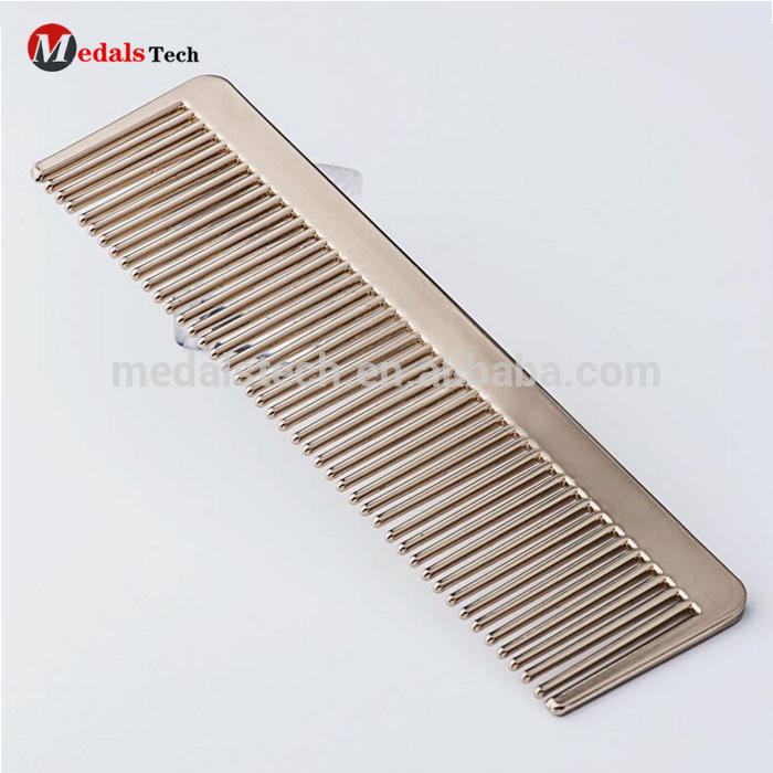 2018 custom gift items good travel size metal hair comb for ladies