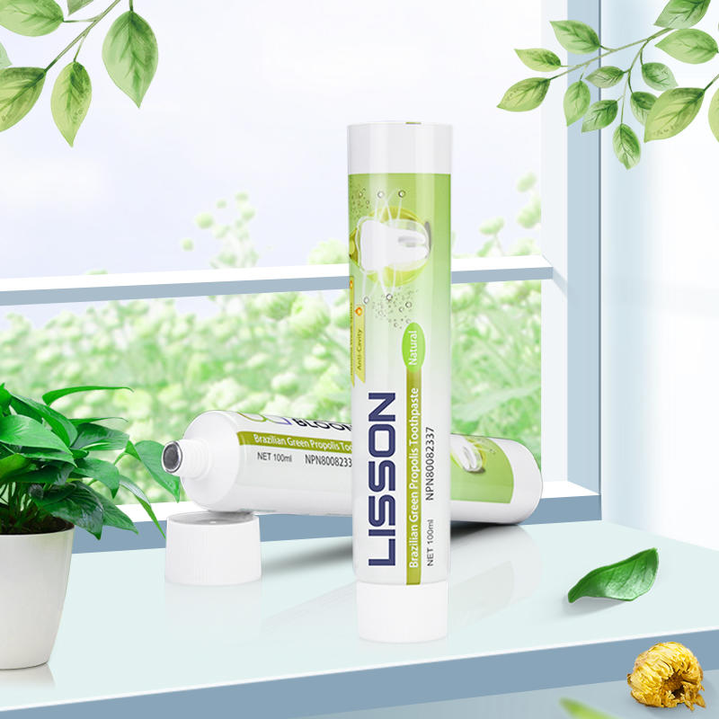 Lisson packing D35mmAluminium Toothpaste Tube Packaging With Screw Cap